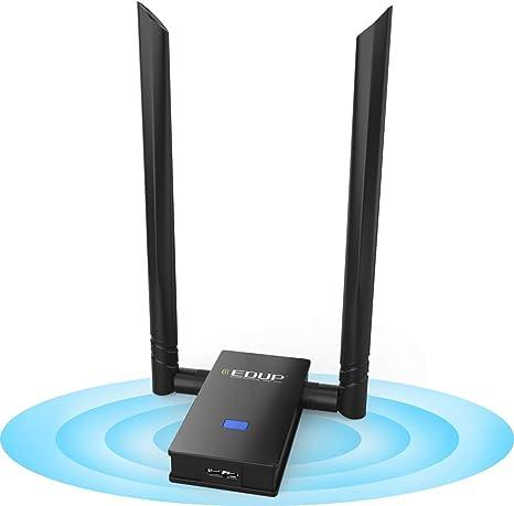 WISE TIGER Adattatore WiFi AC 1200MBPS Dual Band 5 GHz//2.4GHz USB WiFi Dongle di Rete WLAN Stick Staccabile con 2 antenne per Windows XP//7//8//8.1//10//Vista//Mac OS 10.6~10.13