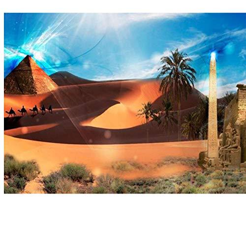 GIZIGI エジプトピラミッド 5D DIY ダイヤモンドペインティング モザイクダイヤモンド 刺繍 ホームデコレーション フルスクエア 40X50 cm フレームレス B07PCVXD5N