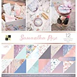DCWV Card Stock 12''X12'' Samantha Rose Premium Printed Cardstock Stack