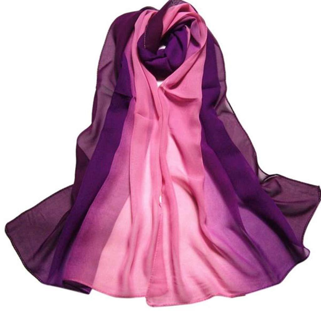 Scarves Hot Sale! 160X50CM Fashion Lady Gradient Color Long Wrap Women's Shawl Chiffon Lightweight Scarf