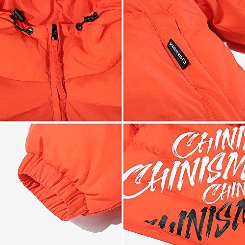 con prendas capucha cálido de M cremallera con 2xl los espesar casual de exteriores orange 2XL hombres acolchado algodón de chaqueta vestir invierno wfSqSP6X