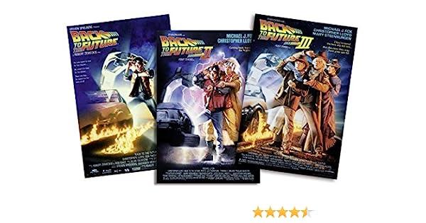 Set de 3 Posters Back to The Future/Regreso al Futuro I-II-III (68,5cm x 101,5cm) + 1 Póster con Motivo de Paraiso Playero