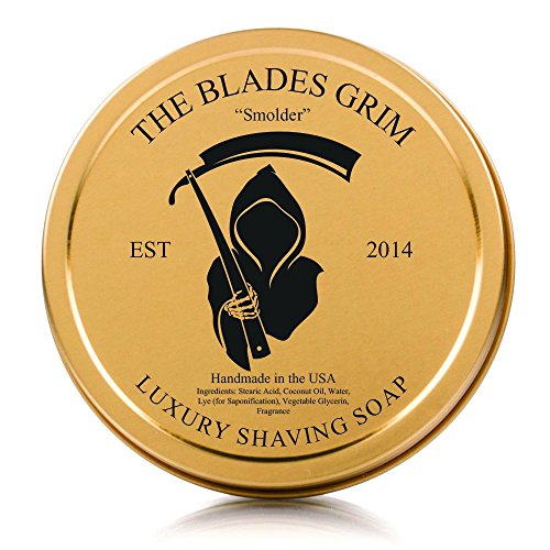 The Blades Grim Gold Luxury Shaving Soap, 'Smolder'