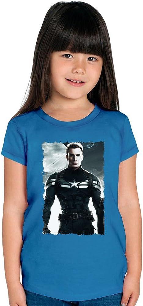 Chris Evans Captain America Camiseta de las muchachas 12+ yrs ...