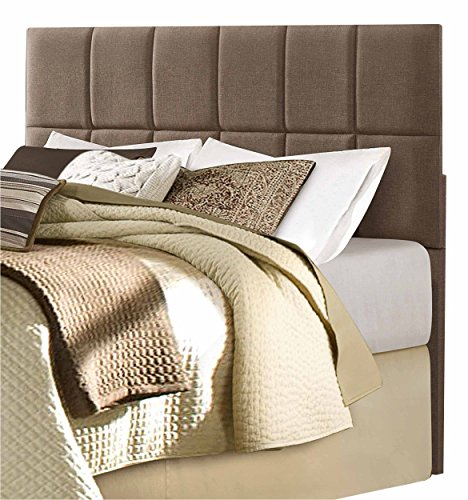 Homelegance Potrero Fabric Upholstered Headboard, Queen/Full, Brown