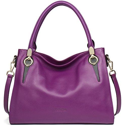 Purple Leather Handbag - 8
