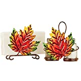 Fall Leaves Dining Table Accessories Set, Napkin Holder and Salt and Pepper Holder, Home Décor