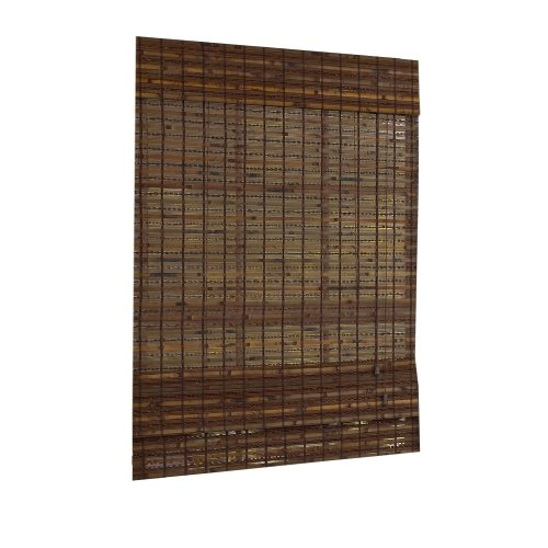 Lewis Hyman 0211513 Jakarta Woven Wood Bamboo Roman Shade, 48-Inch Wide by 64-Inch Long, - Bamboo Natural Woven