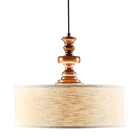Modern Farmhouse Chandelier For Dining Rooms, Kitchens And Breakfast Nooks  | Drum Light Fixture Is Adjustable ...