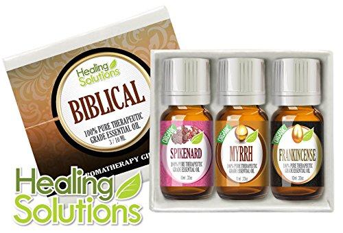 Библейский Set (Organic) 100% Pure, ароматерапия лучших лечебно-Grade Эфирное масло Подарочный набор - 3/10 мл (Мирра, Ладан, нард)