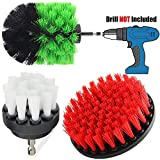 (2019 Upgraded) Drill Brush Attachment Set - Soft Medium & Stiff Power Scrubber - Cleaning Kit For Bathroom Surfaces Shower Tile, Tub, Kitchen, Grout Cleaner - Cleaning Supplies - Spin Bit Scrub Brush