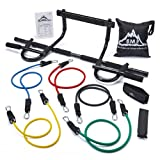 Cheap Black Mountain Products Heavy Duty Chin Up Bar and Resistance Bands