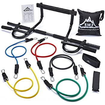 Black Mountain Products Heavy Duty Chin Up Bar and Resistance Bands