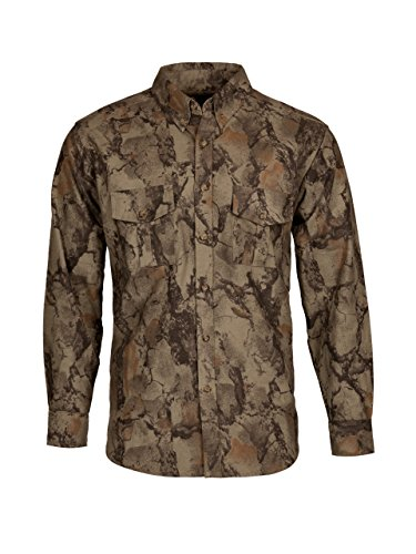 Natural Gear Camo Long Sleeve Shirt with a 7-Button Front, Cotton Flannel Shirt, Hunting Clothes (XX-Large)