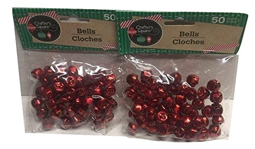 50 Count 12mm Red Crafter's Square Craft Jingle Bells (Pack of 2) Greenbrier 207355