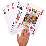Juvale Super Big Giant Jumbo Playing Cards - Full Deck Huge Standard Print Novelty Poker Index Playing Cards, 8 x 11 Inches