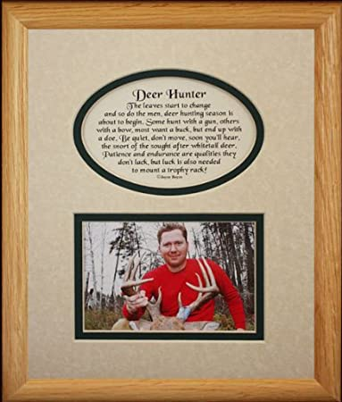 Amazon.com - 8x10 DEER HUNTER Picture & Poetry Photo Gift Frame ...