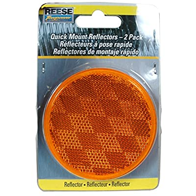Reese Towpower 73817 Amber Reflector - 2 Pack: Automotive