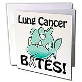 3dRose Lung Cancer Bites Awareness Ribbon Cause Design Greeting Cards, Set of 12 (gc_115683_2)