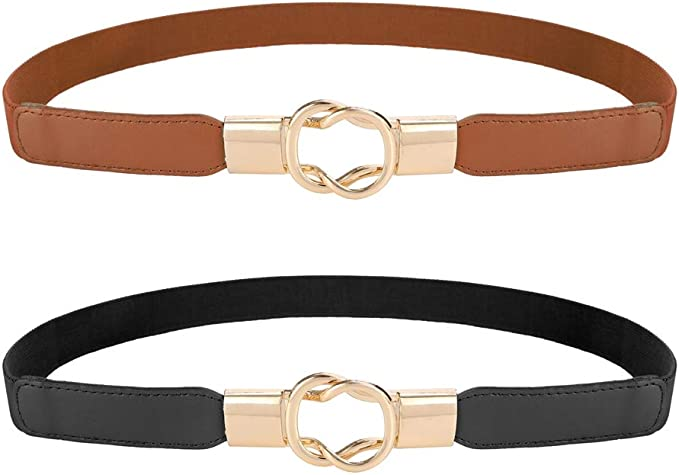Elastic Belt For Women Cinch Thin Stretch Belt Womens Accessories Metal Buckle