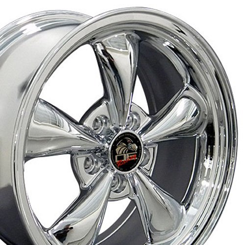 OE Wheels 17 Inch Fit Ford Mustang Bullitt Style Chrome 17x8 Rims Hollander 3448 SET