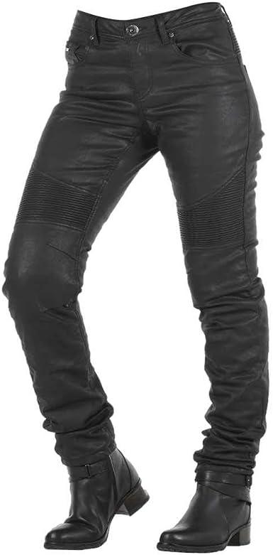 Overlap Imola Night Pantalones Vaqueros Para Mujer Homologados Para Carretera Negro Talla 28 Amazon Es Ropa Y Accesorios