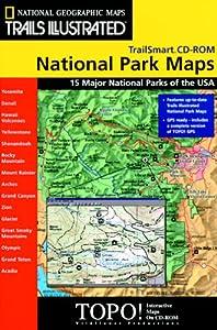 Amazoncom National Geographic TrailSmart Major National Parks - Map of all national parks in us