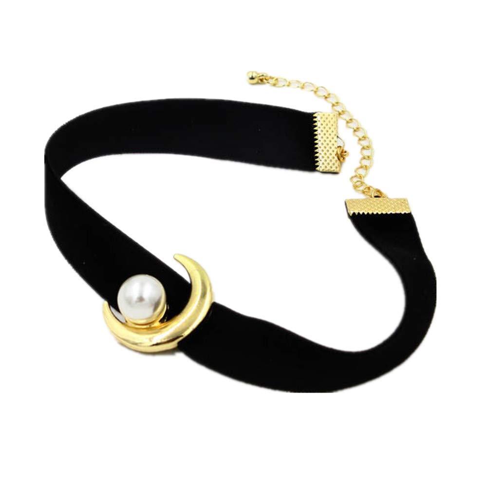 Acccity Red Sailor Moon Usagi Choker Cosplay Chocker Necklace Jewelry (Black)
