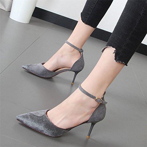 Xue Qiqi hohlen high-heel Schuhe und und und vielseitige Schlitz die Haare Tipp Der Butt einzelne Schuhe Frauen Schuhe fe9b14