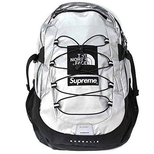 (シュプリーム) SUPREME ×ノースフェイス/THE NORTH FACE 【18SS】【Metallic Borealis Backpack】メタリックバックパック(シルバー) 中古 B07DVMSZFX