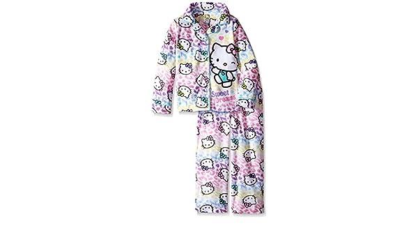 Komar Kids Juego de pijama para niñas mayores, motivo Hello Kitty. - Blanco - : Amazon.es: Ropa y accesorios