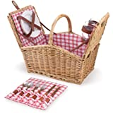 Picnic Time Piccadilly Dual-Lid Picnic Basket with Service for Two
