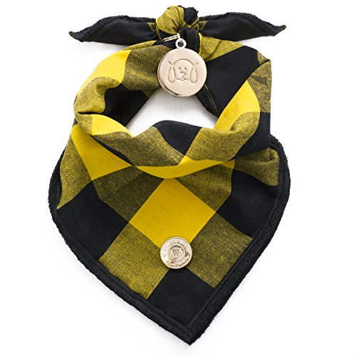 Designer Bandana Collection for Dogs by United Pups (Sunny Yellow, - Sunnies Designer