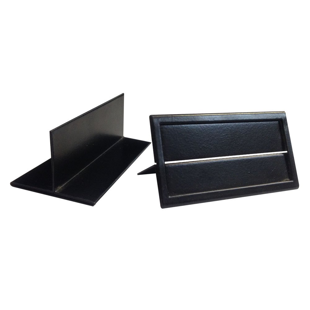 FixtureDisplays Metal Shelf Edge Price Tag Holder, Ticket Holder Metal - 12pk 1459