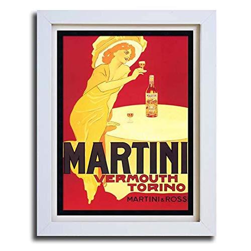 Martini Vintage Retro Anuncio Cartel Art Enmarcado Imprimir ...