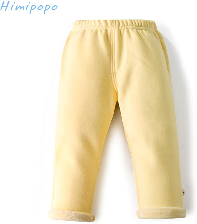 Ages 12 M-5 Years Yellow himipopo Baby Leggings for Girls Toddler Pants Stretchy Cotton