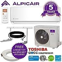 AlpicAir 18,000 BTU Ductless Mini Split Air Conditioner System Inverter Heat Pump