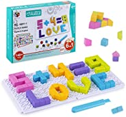 UNIH Building Blocks 6 in 1 DIY Bricks Puzzle Board Construction Kit Educational Toys for 4 Year Old and Up