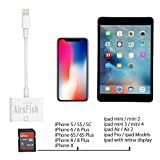 AirsFish Upgrade SD Card Reader,Lightning Adapter