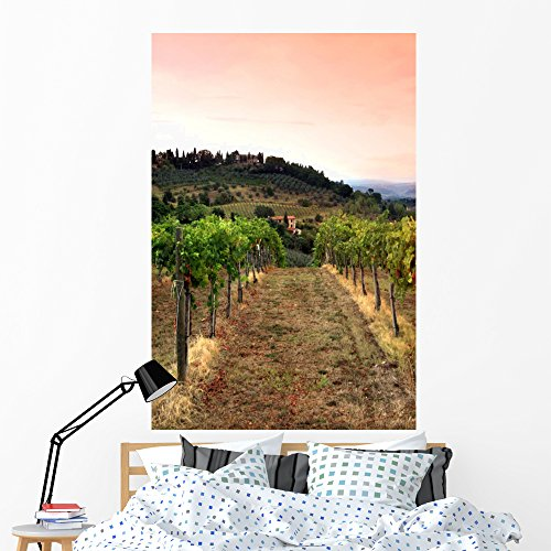 Vinyards and Rolling Hills Wall Mural by Wallmonkeys Peel and Stick Graphic (60 in H x 40 in W) WM183592