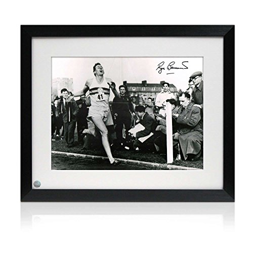 Framed Roger Bannister Signed Photograph: First Under 4 Minute Mile by Exclusive Memorabilia