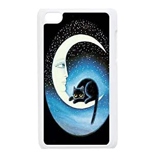 Sun and Moon, Cat Unique Design Case for Ipod Touch 4, New Fashion Sun and Moon, Cat Case