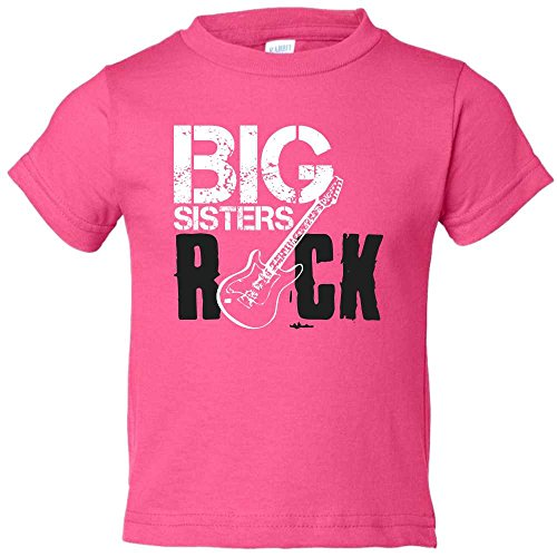 Big Brothers Rock Little Sisters Roll Cute Matching Creepers and T-Shirt (5/6, Big Sister) ()