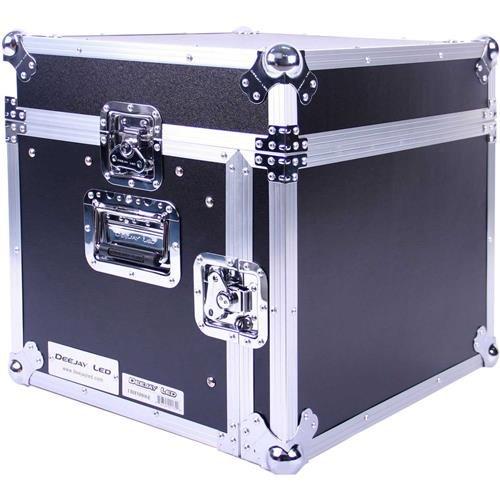 DEEJAYLED TBH Flight CASE 8U Slant Mixer 6U Vertical Rack System with Full AC Door -