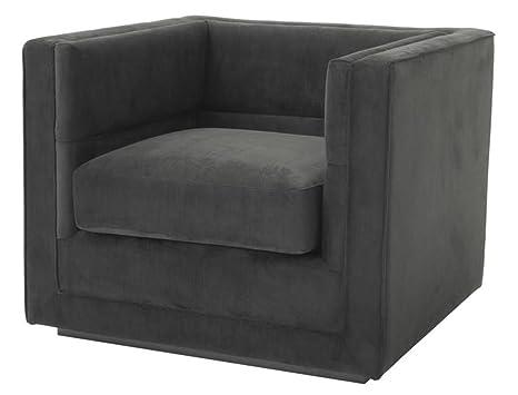 Casa-Padrino sillón de Lujo Gris Antracita 92 x 86 x H. 73,5 ...