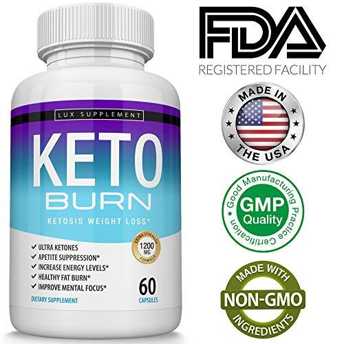 Shark Tank Keto Burn Weight Loss Pills ? Ultra Advanced Ketosis Fat Burner Using Ketone & Ketogenic Diet, Fast & Effective Ketosis for Men Women, Boost Energy While Burning Fat, 60 Capsules