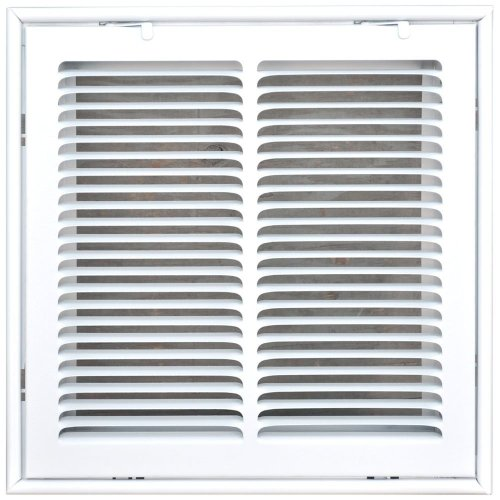 Speedi-Grille SG-1414 FG 14-Inch by 14-Inch White Return Air Vent Filter Grille with Fixed Blades ()
