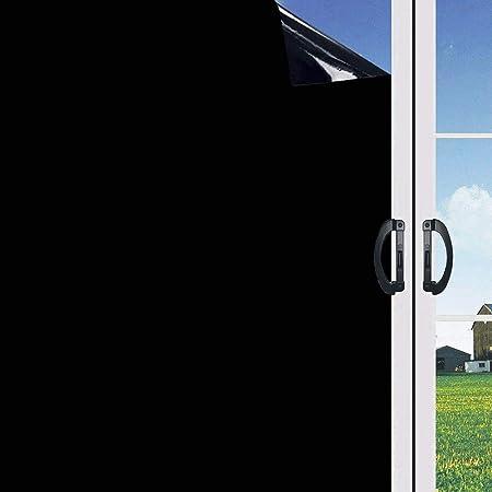 Blickdicht Vinylaufkleber ohne Gelkleber 44.5 * 100CM Do4U Verdunklungsfolie f/ür Fenster 100/% lichtundurchl/ässig Sichtschutz zum Aufkleben Schwarz leicht zu entfernen