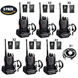 BaoFeng BF-888s 2 Way Radio Walkie Talkies Long Range Rechargeable Two Way Radio with 12 1500mah Li-ion Batteries (6 Pack)