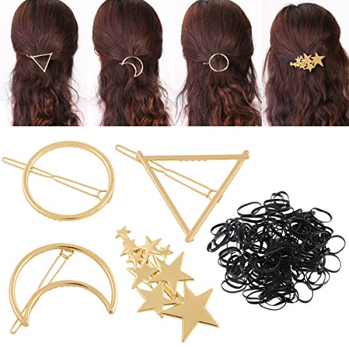 hair clip hollow geometric alloy